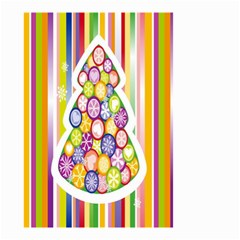 Christmas Tree Colorful Small Garden Flag (Two Sides)