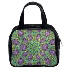 Modern Ornate Geometric Pattern Classic Handbags (2 Sides) by dflcprints