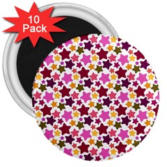 Christmas Star Pattern 3  Magnets (10 Pack)  by Nexatart
