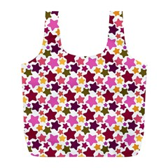 Christmas Star Pattern Full Print Recycle Bags (l)  by Nexatart