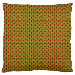 Christmas Trees Pattern Large Flano Cushion Case (two Sides) by Nexatart