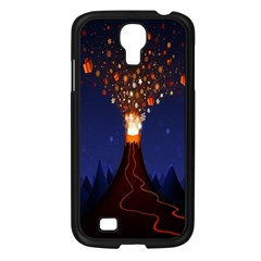 Christmas Volcano Samsung Galaxy S4 I9500/ I9505 Case (black) by Nexatart
