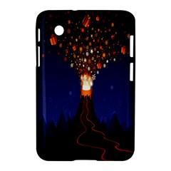 Christmas Volcano Samsung Galaxy Tab 2 (7 ) P3100 Hardshell Case  by Nexatart