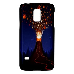 Christmas Volcano Galaxy S5 Mini by Nexatart