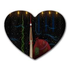 Christmas Xmas Bag Pattern Heart Mousepads by Nexatart