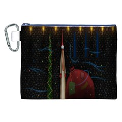 Christmas Xmas Bag Pattern Canvas Cosmetic Bag (XXL) by Nexatart