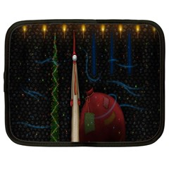 Christmas Xmas Bag Pattern Netbook Case (XL)