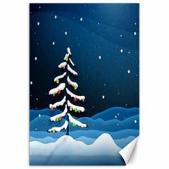 Christmas Xmas Fall Tree Canvas 20  X 30   by Nexatart