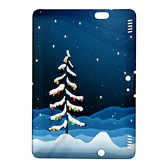Christmas Xmas Fall Tree Kindle Fire Hdx 8 9  Hardshell Case