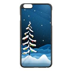 Christmas Xmas Fall Tree Apple Iphone 6 Plus/6s Plus Black Enamel Case by Nexatart