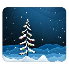 Christmas Xmas Fall Tree Double Sided Flano Blanket (small)  by Nexatart