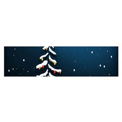 Christmas Xmas Fall Tree Satin Scarf (oblong) by Nexatart