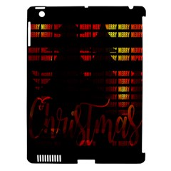 Christmas Advent Gloss Sparkle Apple Ipad 3/4 Hardshell Case (compatible With Smart Cover) by Nexatart