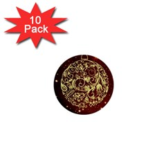 Christmas Bauble 1  Mini Buttons (10 pack)  by Nexatart