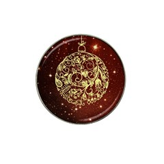 Christmas Bauble Hat Clip Ball Marker by Nexatart