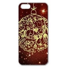 Christmas Bauble Apple Seamless Iphone 5 Case (clear) by Nexatart