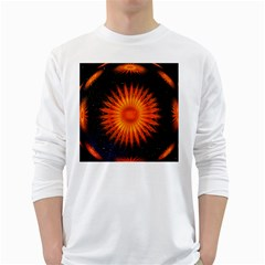 Christmas Card Ball White Long Sleeve T-Shirts by Nexatart