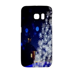 Christmas Card Christmas Atmosphere Galaxy S6 Edge by Nexatart