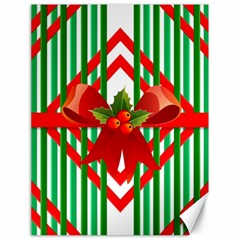 Christmas Gift Wrap Decoration Red Canvas 18  X 24   by Nexatart