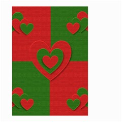 Christmas Fabric Hearts Love Red Small Garden Flag (Two Sides)