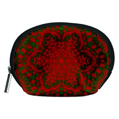 Christmas Kaleidoscope Art Pattern Accessory Pouches (medium)  by Nexatart