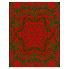 Christmas Kaleidoscope Art Pattern Drawstring Bag (large) by Nexatart
