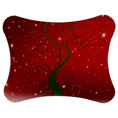 Christmas Modern Day Snow Star Red Jigsaw Puzzle Photo Stand (Bow) by Nexatart