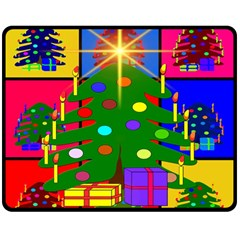 Christmas Ornaments Advent Ball Double Sided Fleece Blanket (Medium)  by Nexatart