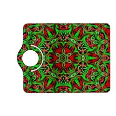 Christmas Kaleidoscope Pattern Kindle Fire Hd (2013) Flip 360 Case by Nexatart