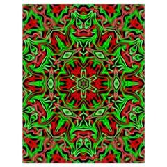 Christmas Kaleidoscope Pattern Drawstring Bag (large) by Nexatart