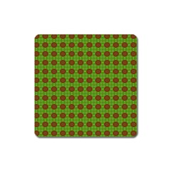 Christmas Paper Wrapping Patterns Square Magnet by Nexatart