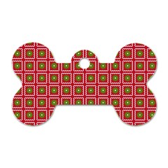 Christmas Paper Wrapping Dog Tag Bone (two Sides) by Nexatart