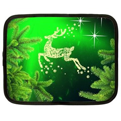 Christmas Reindeer Happy Decoration Netbook Case (XL)  by Nexatart