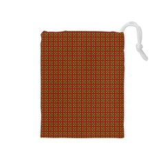 Christmas Paper Wrapping Paper Drawstring Pouches (medium)  by Nexatart