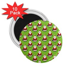 Christmas Santa Santa Claus 2 25  Magnets (10 Pack)  by Nexatart