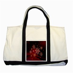 Christmas Snowflake Ice Crystal Two Tone Tote Bag by Nexatart