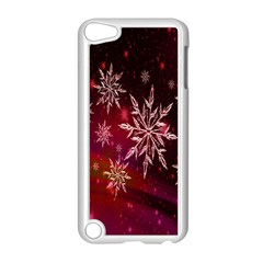 Christmas Snowflake Ice Crystal Apple Ipod Touch 5 Case (white) by Nexatart
