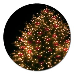 Christmas Tree Magnet 5  (round) by Nexatart