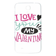 I Love You My Valentine (white) Our Two Hearts Pattern (white) Samsung Galaxy Mega I9200 Hardshell Back Case by FashionFling