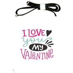 I Love You My Valentine (white) Our Two Hearts Pattern (white) Shoulder Sling Bags by FashionFling