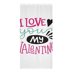 I Love You My Valentine (white) Our Two Hearts Pattern (white) Shower Curtain 36  X 72  (stall)  by FashionFling