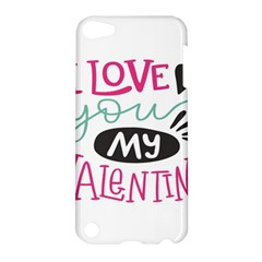 I Love You My Valentine (white) Our Two Hearts Pattern (white) Apple iPod Touch 5 Hardshell Case by FashionFling