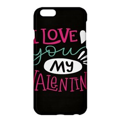 I Love You My Valentine / Our Two Hearts Pattern (black) Apple Iphone 6 Plus/6s Plus Hardshell Case by FashionFling