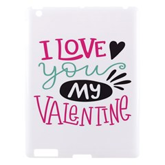 I Love You My Valentine / Our Two Hearts Pattern (white) Apple Ipad 3/4 Hardshell Case by FashionFling