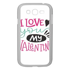 I Love You My Valentine / Our Two Hearts Pattern (white) Samsung Galaxy Grand Duos I9082 Case (white) by FashionFling
