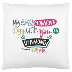 My Every Moment Spent With You Is Diamond To Me / Diamonds Hearts Lips Pattern (white) Standard Flano Cushion Case (one Side) by FashionFling