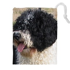 Spanish Water Dog Drawstring Pouches (XXL) by TailWags