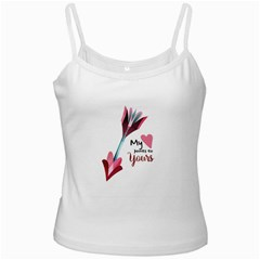 My Heart Points To Yours / Pink And Blue Cupid s Arrows (white) Ladies Camisoles by FashionFling