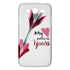 My Heart Points To Yours / Pink And Blue Cupid s Arrows (white) Samsung Galaxy Mega 5 8 I9152 Hardshell Case  by FashionFling
