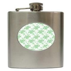 Saint Patrick Motif Pattern Hip Flask (6 Oz) by dflcprints